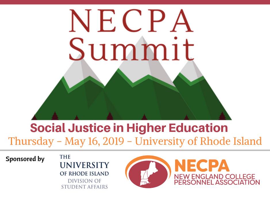 NECPA Summit Thursday, May 16 2019 at University of Rhode Island